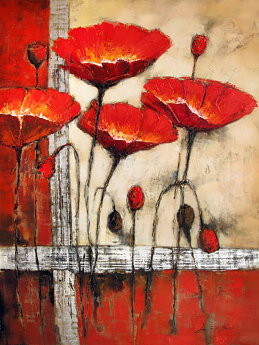 ' Poppies ' in Red