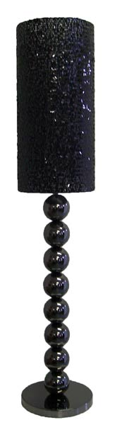 Floor Lamp - Black Chrome & Sequins