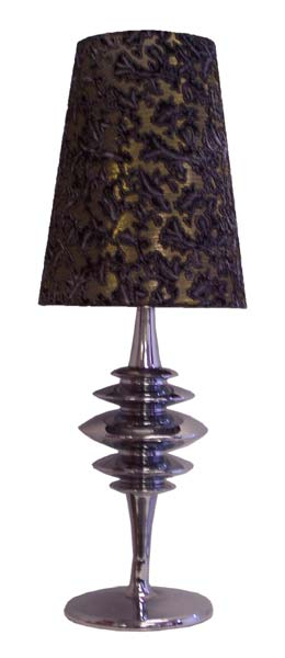 Table Lamp - Chrome & Fabric
