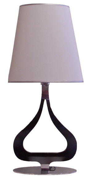 Table Lamp - Stainless Steel & Fabric