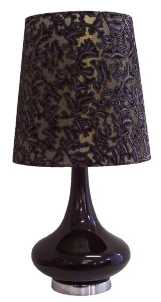 Table Lamp - Glass & Fabric