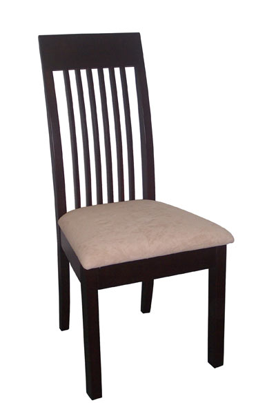 Slat Back Hardwood Dining Chair