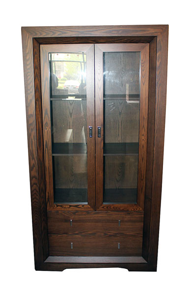 'Byron Bay' Double Door Display Cabinet with Drawers