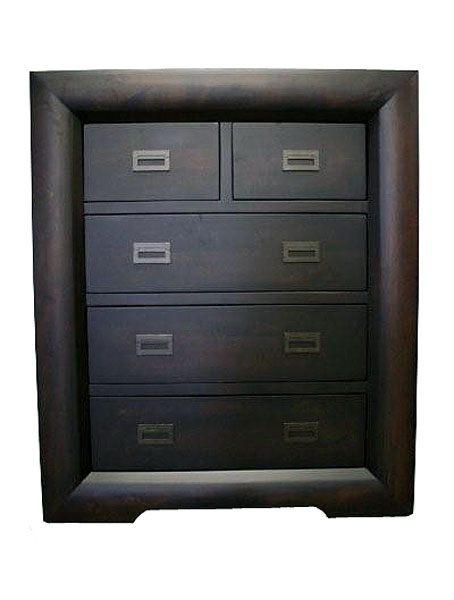 'Global' Five Drawer Tallboy