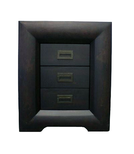 'Global' Three Drawer Bedside Table