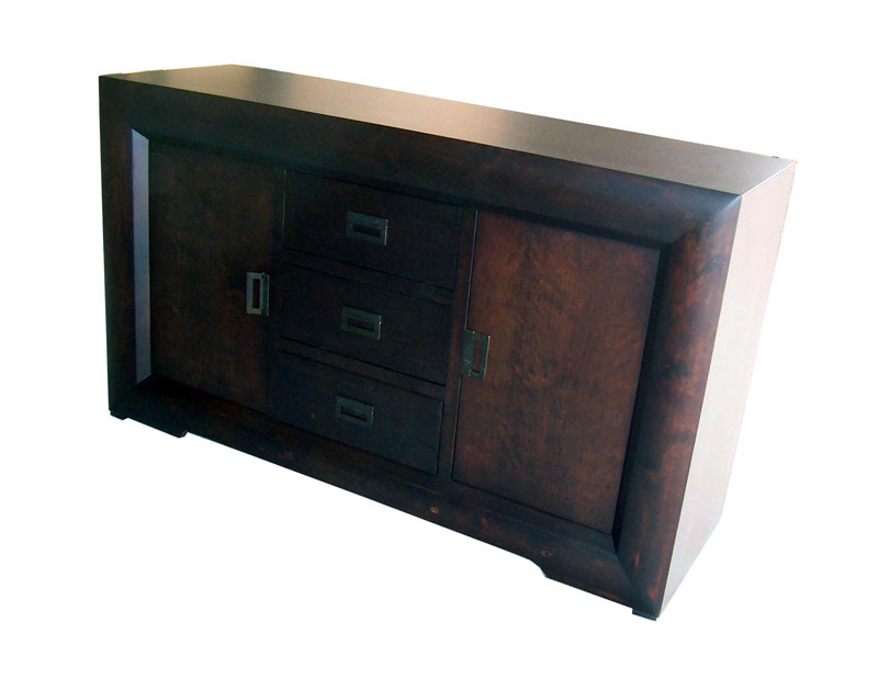 'Global' Three Drawer Two Door Sideboard