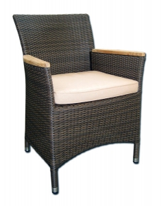 CARIBBEAN-CHAIR-WITH-TEAK-ARM-JAVA-BROWN-with-cushion-SUNNYG